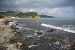 czarny brzegowy morze Obrazy Royalty Free