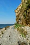 czarny brzegowy morze Zdjęcia Royalty Free