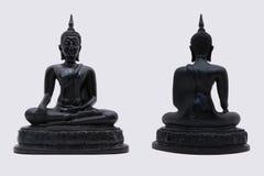 Czarny Buddha odizolowywa białego tło Zdjęcia Stock