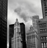 czarny budynku white Zdjęcia Royalty Free