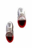 czarny butów futbolu odosobniona piłka nożna Zdjęcie Stock