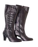 czarny butów odosobniona kobieta zdjęcia stock