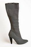 czarny buta damy s biel Zdjęcia Royalty Free