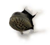 czarny buta dziury samiec papier Obraz Stock