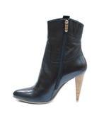 czarny buta kobiety lether Fotografia Royalty Free