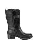 czarny buta obuwia kobieta Fotografia Royalty Free