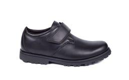 czarny buta odosobniony biel Fotografia Stock