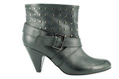 czarny buta skrótu kobieta Obrazy Royalty Free