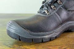 Czarny buta zbliżenie Obrazy Stock