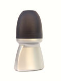 czarny butelki dezodorant odizolowywający srebro Obraz Stock