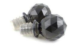 czarny butelki korkiem Obraz Royalty Free
