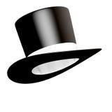 czarny butli kapeluszowy tasiemkowy biel Obraz Stock