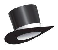 czarny butli kapeluszowy tasiemkowy biel Zdjęcie Stock