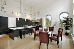 czarny cabinetry kuchni luksus Obraz Royalty Free