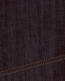 Czarny cajgu drelichu tło Zdjęcie Royalty Free