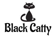 Czarny Catty Zdjęcie Stock
