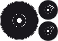 czarny cd Obrazy Stock