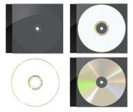 czarny cd pokrywy dvd set Fotografia Stock