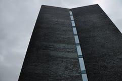Czarny ceglany façade Zdjęcie Stock