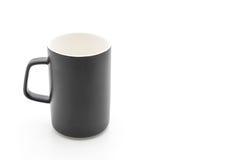 Czarny ceramiczny kubek fotografia stock