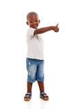 Czarny chłopiec kciuk up Fotografia Stock