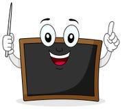 Czarny Chalkboard charakter z pointerem Fotografia Stock