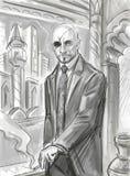 czarny charakter ilustracja wektor