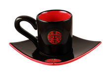 czarny chiha ustalona herbata Zdjęcie Royalty Free