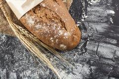Czarny chleb z ucho banatka Zdjęcia Stock