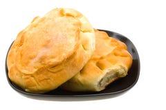 czarny chleba bochenka talerza rosjanin czarny Zdjęcie Royalty Free