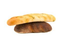 czarny chleba czosnek odizolowywający bochenka kumberland Fotografia Royalty Free