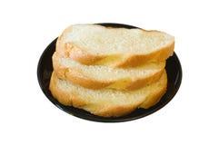 czarny chleba talerz Obrazy Stock