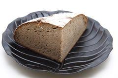 czarny chleba talerza banatka Obrazy Stock