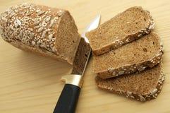 czarny chlebowy nóż Zdjęcie Stock