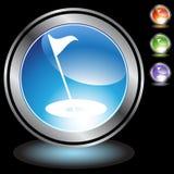 czarny chromu golfa ikony ilustracji