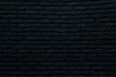 Czarny ściana z cegieł Zdjęcia Stock
