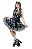 czarny cosplay smokingowa dziewczyna zdjęcie royalty free