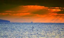 czarny Crimea dag kara halny denny wschód słońca widok Obraz Stock
