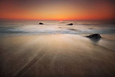czarny Crimea dag kara halny denny wschód słońca widok Obrazy Stock