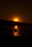 czarny Crimea dag kara halny denny wschód słońca widok Zdjęcie Royalty Free