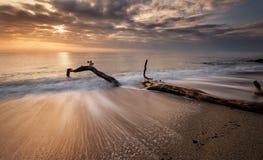 czarny Crimea dag kara halny denny wschód słońca widok Zdjęcia Stock