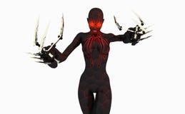 czarny cyborga kobiety wdowa Obrazy Stock