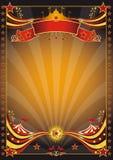 czarny cyrkowy pomarańczowy plakat Zdjęcie Royalty Free
