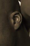 czarny człowiek ucha s Obraz Stock