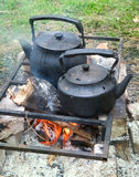 czarny czajnik dwa Zdjęcie Stock