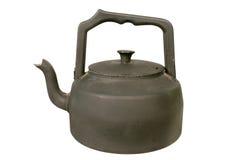 czarny czajnik stara piecyk Zdjęcie Stock