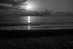 Czarny czarny morze Zdjęcie Royalty Free
