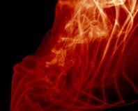 czarny czerwony dym Zdjęcie Stock