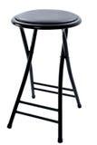 czarny cztery nogi na stołek white Obraz Stock