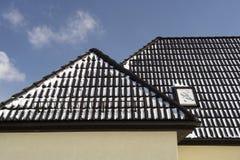 czarny dach zdjęcia stock
